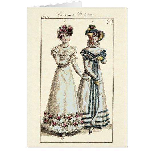 Kostüme Parisiens Modegeck 1821 Karte