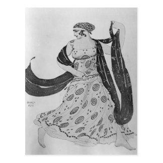 """Kostümieren Sie Entwurf für """"Kleopatra"""", 1910 Postkarte"""