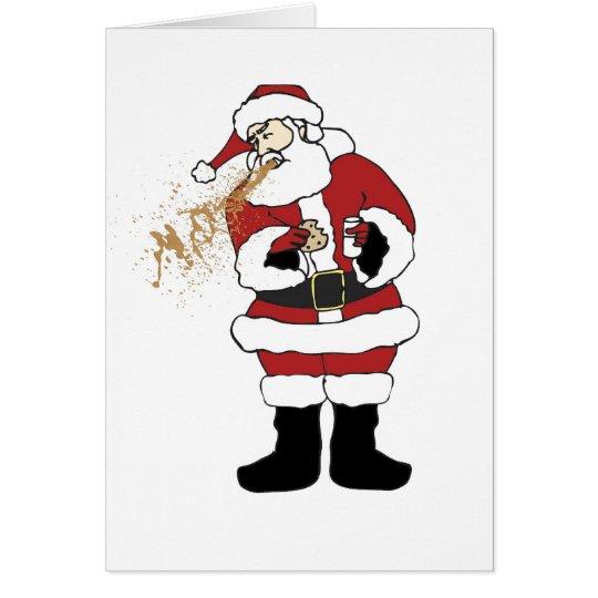 Kotzende Sankt-Weihnachtskarte Grußkarte