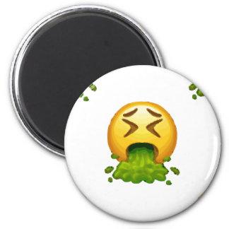 kotzendes emoji runder magnet 5,1 cm