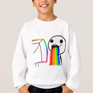 Kotzt Regenbogen Sweatshirt