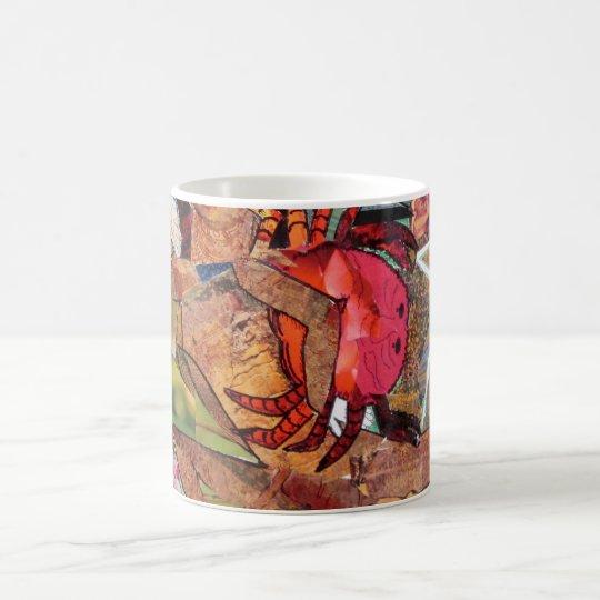 Krabbe, Collage, Kaffeetasse, Tasse