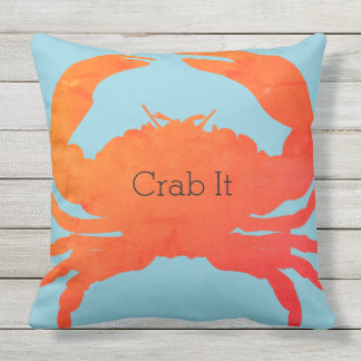 Krabbe-Es (c) LG_Paprika u. Meer-Glas Blau Kissen Für Draußen