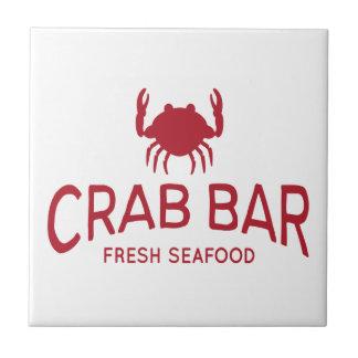 Krabben-Bar-neues Meeresfrüchte-Logo Fliese