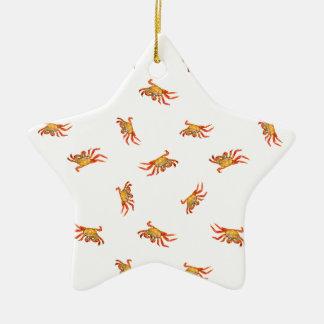 Krabben-Foto-Collagen-Muster-Entwurf Keramik Ornament