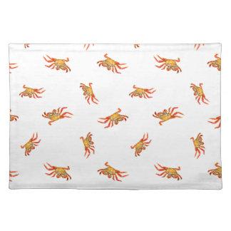 Krabben-Foto-Collagen-Muster-Entwurf Tischset