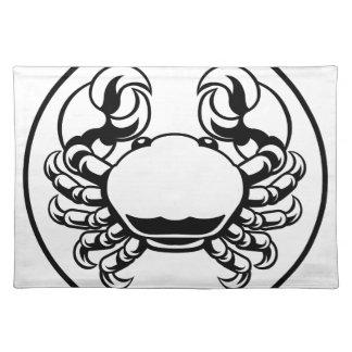 Krabben-Krebs-Tierkreis-Horoskop-Zeichen Tischset