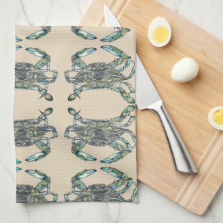 Krabben-Muster Handtuch