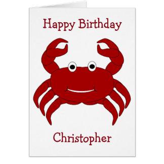 Krabben-personalisierter Geburtstag Karte
