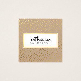 Kraftpapier-Imitatgold des BERUFLICHEN Quadratische Visitenkarte