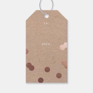 Kraftpapierconfetti-Imitat-Foliengeschenk Geschenkanhänger