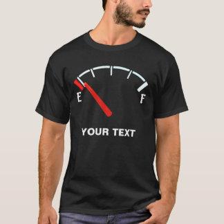 Kraftstoffanzeige-Gas-Tankvoll/leeren sich T-Shirt