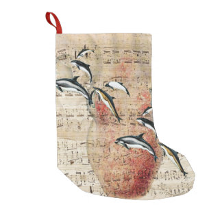 Krake und Delphin-Collage Kleiner Weihnachtsstrumpf