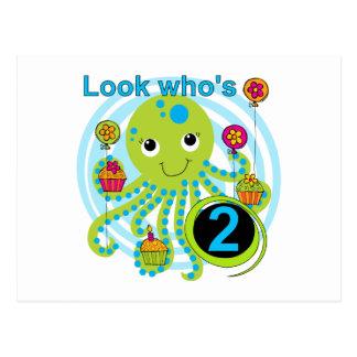 Kraken-2. Geburtstags-T-Shirts und Geschenke Postkarte