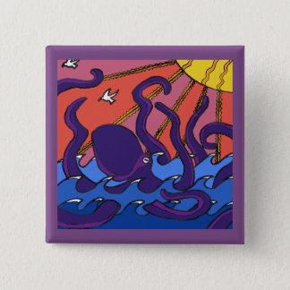 Kraken-Knopf Quadratischer Button 5,1 Cm