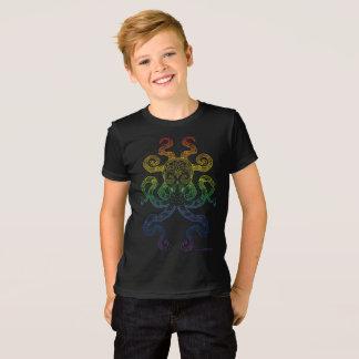 Kraken-Seekunst-Regenbogen-Stolz-graues Schwarzes T-Shirt