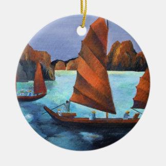 Kram in der absteigenden Drache-Bucht Keramik Ornament