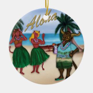Krampus auf Ferien-Verzierung Rundes Keramik Ornament