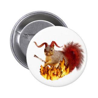Krampus Eichhörnchen-Knopf Runder Button 5,1 Cm