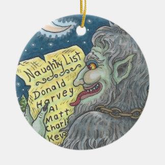 KRAMPUS fertigen FRECHE LISTE Weihnachtsverzierung Keramik Ornament