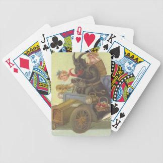 Krampus Obducting kleine Mädchen im Auto Pokerkarten