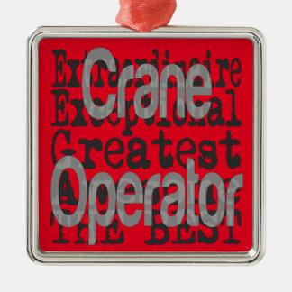 Kran-Betreiber Extraordinaire Silbernes Ornament