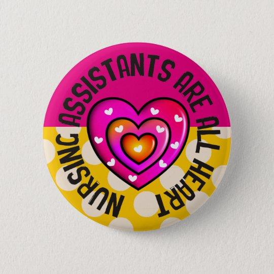 Krankenpflege-Assistenten aller Herz-Knopf Runder Button 5,1 Cm