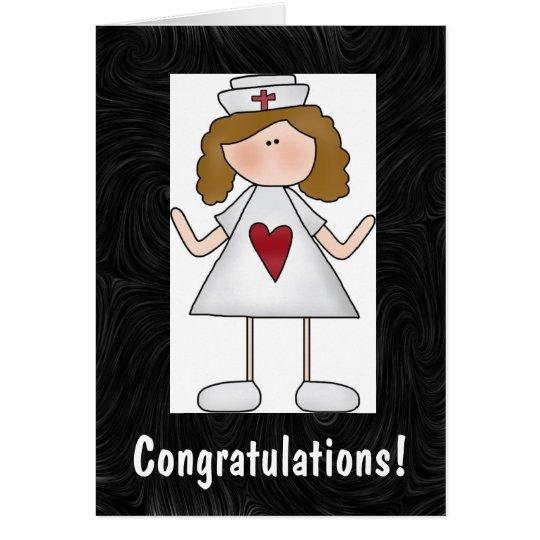 Krankenpflege-Glückwünsche personalisiert Karte