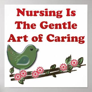 Krankenpflege ist sich kümmerte poster