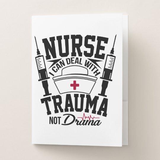Krankenpflege mit Trauma statt Drama-Spaß Bewerbungsmappe