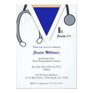 Krankenpflege-SchulAbschluss 12,7 X 17,8 Cm Einladungskarte