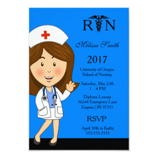 Krankenpflege-SchulAbschluss-Einladung 8,9 X 12,7 Cm Einladungskarte