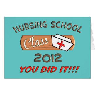 Krankenpflege-SchulAbschluss-Karte 2012 Grußkarte
