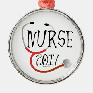 Krankenschwester-Absolvent 2017 Silbernes Ornament