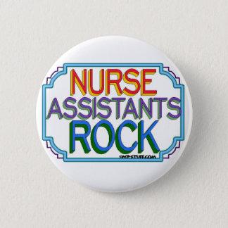 Krankenschwester-Assistenten-Felsen Runder Button 5,7 Cm