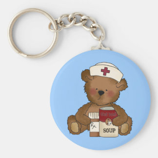Krankenschwester-Bär Keychain Schlüsselanhänger