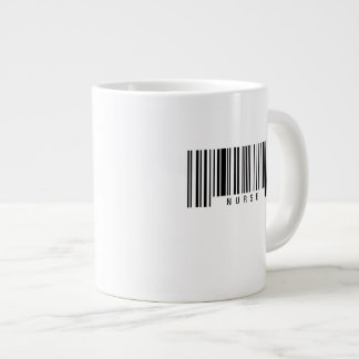 Krankenschwester-Barcode Jumbo-Tasse