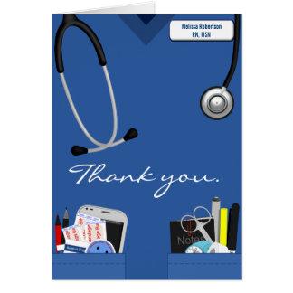 Krankenschwester danken Ihnen zu kardieren Karte