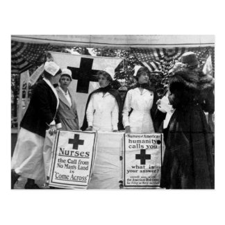 Krankenschwester-Einstellung Postkarte