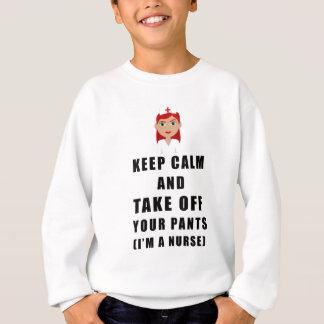 Krankenschwester, entfernen Ihre Hosen Sweatshirt