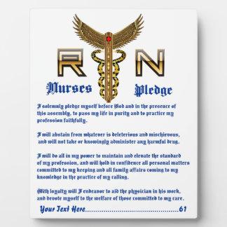 Krankenschwester-Foto PlaqueCustomize redigieren Fotoplatte