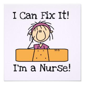 Krankenschwester I kann es regeln T - Shirts und Quadratische 13,3 Cm Einladungskarte
