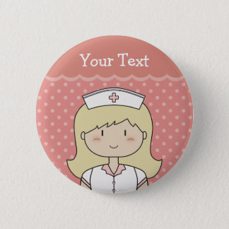 Krankenschwester mit dem blonden Haar Runder Button 5,1 Cm