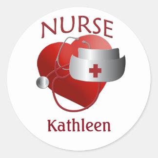 Krankenschwester-Namensgewohnheit pflegt Runder Aufkleber