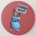 Krankenschwester-Regel! Runder Button 15,3 Cm