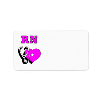 Krankenschwester RN-Sorgfalt Adressaufkleber