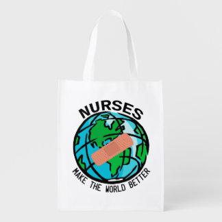 Krankenschwester-WeltReuseable Tasche Wiederverwendbare Einkaufstasche