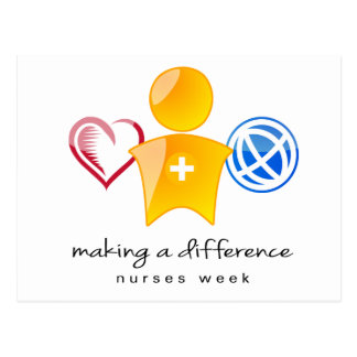 Krankenschwester-Wochen-Postkarte Postkarte