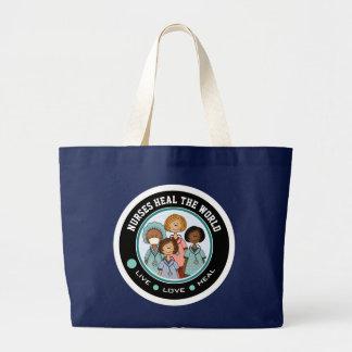 Krankenschwestern heilen die Welt. Jumbo Stoffbeutel