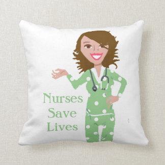 Krankenschwestern retten Lebenthrow-Kissen Kissen